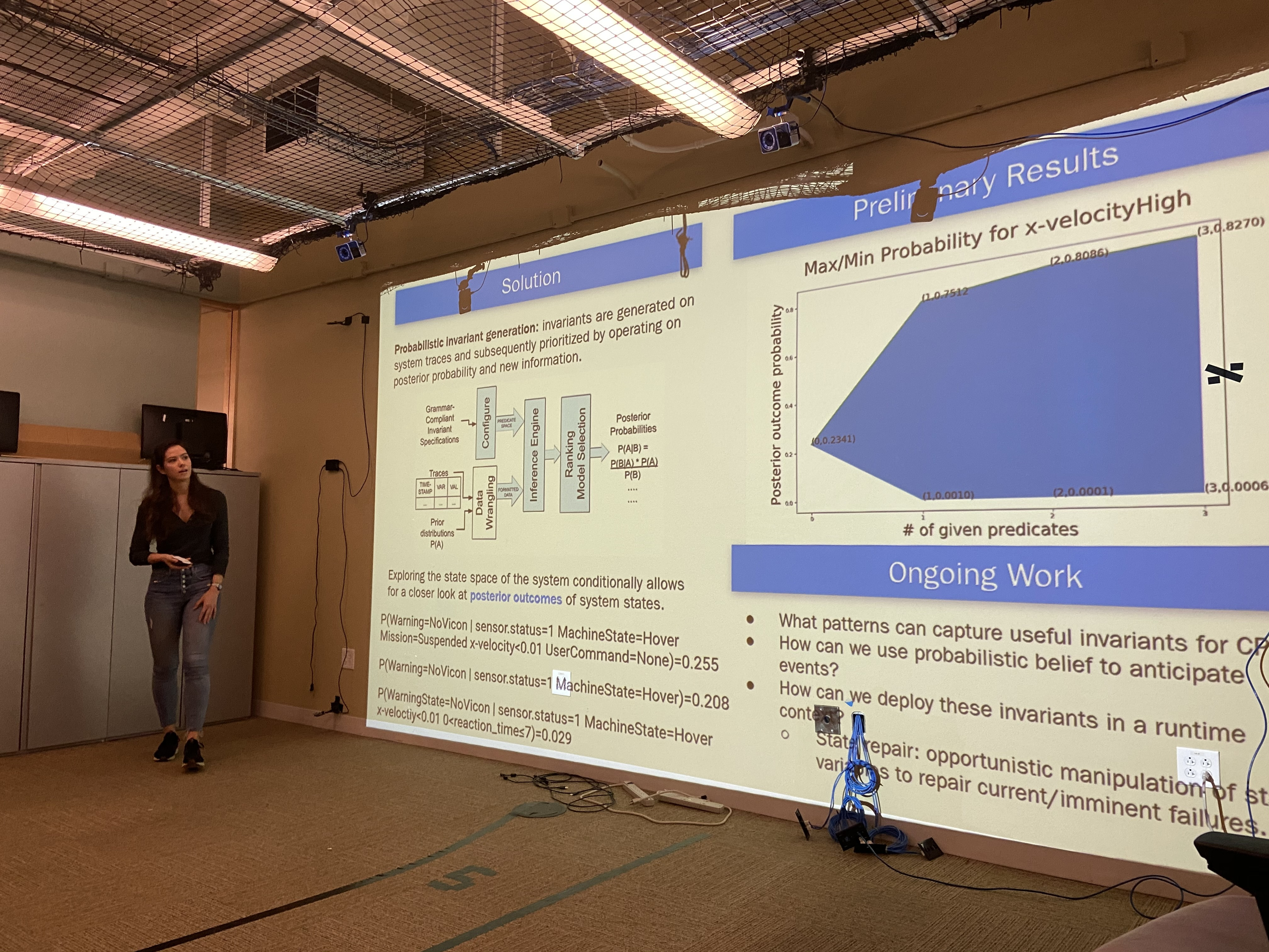 Meriel giving a talk on her current work on invariance.