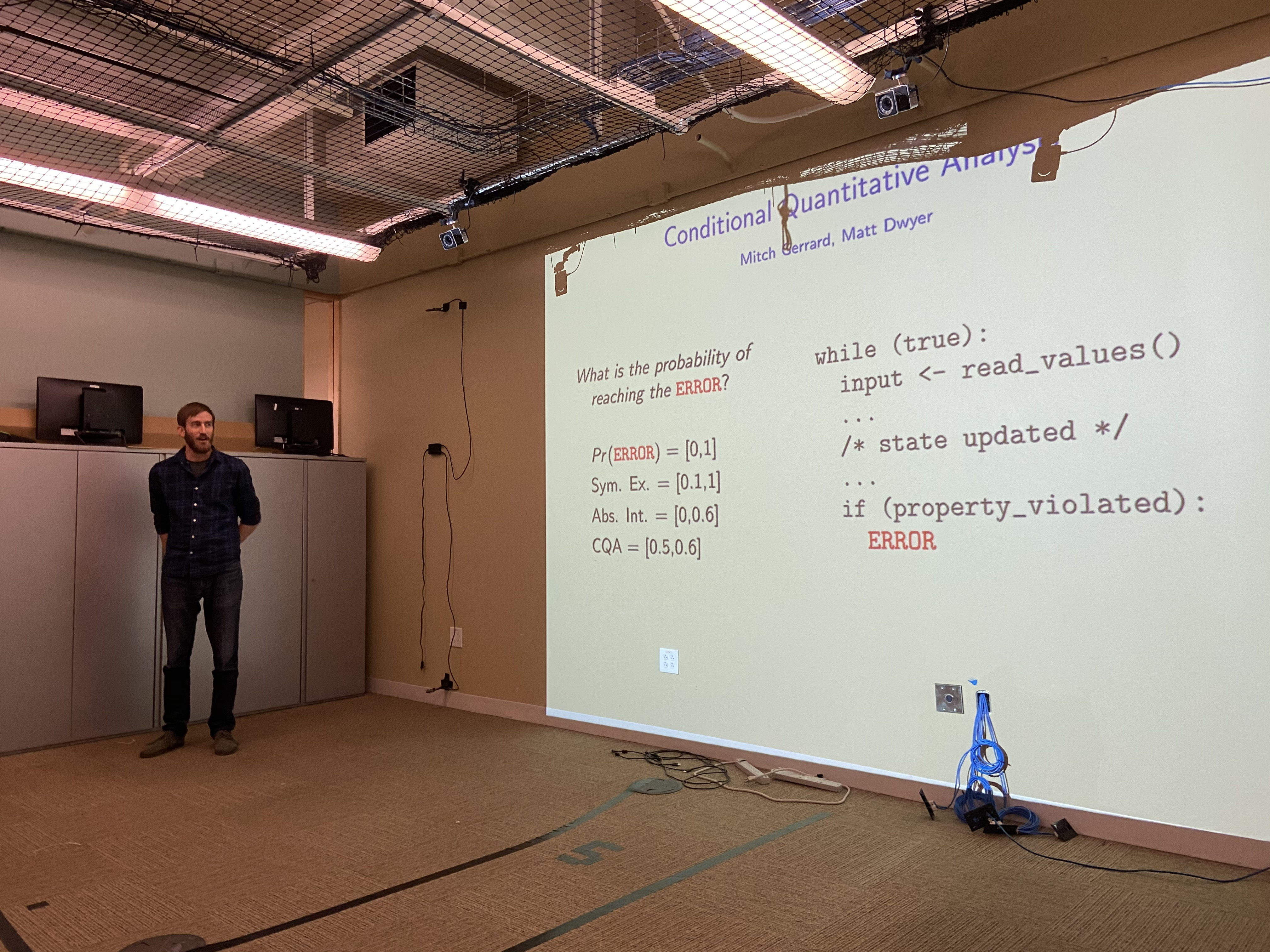 Mitch giving a talk on some of his previous work on software analysis.